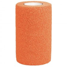3M VETRAP BANDAGE, SINGLE ROLL, HOT ORANGE