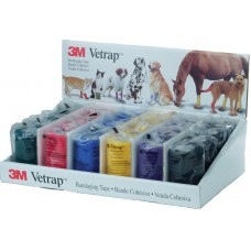 3M VETRAP BANDAGE 24 ROLL DISPLAY CASE