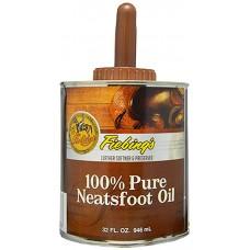 FIEBING'S 100% PURE NEATSFOOT OIL - 946 ML WITH BRUSH