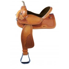 WESTERN RAWHIDE SIGNATURE NEVADA PRO GOLDEN SNOWFLAKE RACER SADDLE