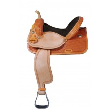 WESTERN RAWHIDE SIGNATURE MAVERICK GOLDEN BASKET PRO RACER SADDLE