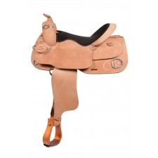WESTERN RAWHIDE SIGNATURE ELKO PRO TRAINER SADDLE, ROUGH OUT