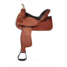 WESTERN RAWHIDE SIGNATURE LOGAN CHESTNUT PRO BARREL RACER SADDLE