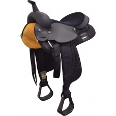 CIRCLE P CORDURA SYNTHETIC FULL QUARTER HORSE BAR SADDLE