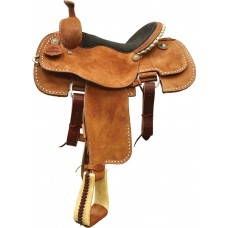 TULSA CALF ROPER, CHESTNUT ROUGH OUT