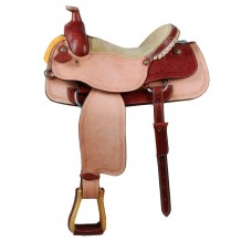 ROSCOE TOBACCO ROSE TEAM ROPER SADDLE