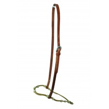 WESTERN RAWHIDE RAWHIDE ADJUSTABLE NOSEBAND WITH KNOTS