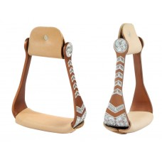 ALUMINUM STIRRUPS WITH LEATHER TREADS