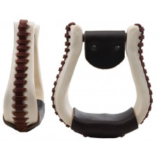 "BELL STIRRUP - 3"" NECK, LEATHER"