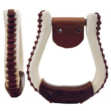 "CONTEST STIRRUP - 3"" NECK, LEATHER"