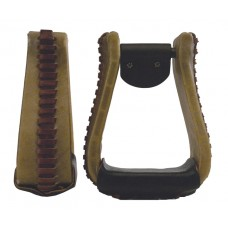 "ROPER STIRRUP - 3"" NECK, LEATHER"