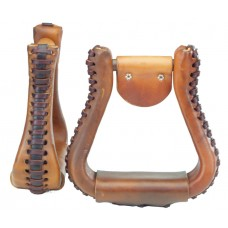 "BELL STIRRUP - X-WIDE - 3"" NECK, LEATHER"
