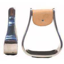 WESTERN  RAWHIDE ALUMINUM STIRRUPS WITH RUBBER GRIP PADS