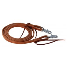 "HARNESS LEATHER 1/2"" ROPING REINS, 7' TO 7' 6"""