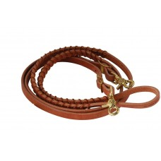 HARNESS LEATHER BRAIDED BARREL RACER REINS