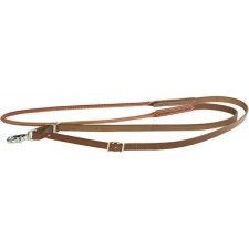 8 FOOT LEATHER ROPING REINS