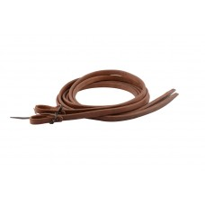 "HARNESS LEATHER REINS WITH WATER LOOPS AND HEAVY ENDS - 5/8"" x 8' AND UP"