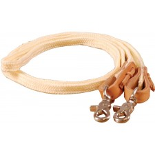 MUSTANG FLAT BRAIDED ROPING REINS