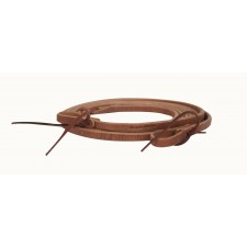 "OILED HARNESS LEATHER REINS WITH WATER LOOPS - 1/2"" X 7' TO 7' 11''"