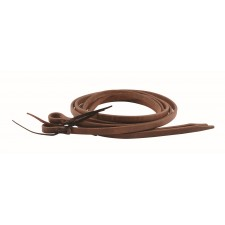 "OILED HARNESS LEATHER REINS WITH WATER LOOPS - 1/2"" x 8' AND UP"