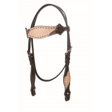 COUNTRY LEGEND ROUGH OUT & BUCKSTITCH BROWBAND HEADSTALL