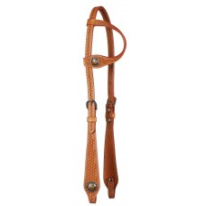 COUNTRY LEGEND BASKETWEAVE ONE EAR HEADSTALL