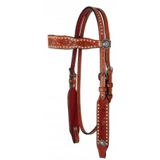 COUNTRY LEGEND BUCKSTITCH AND FLOWER BROWBAND HEADSTALL