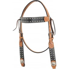 COUNTRY LEGEND ELEPHANT CARVING WITH SUN SPOTS BROWBAND HEADSTALL