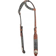 COUNTRY LEGEND ELEPHANT CARVING WITH SUN SPOTS DOUBLE EAR HEADSTALL