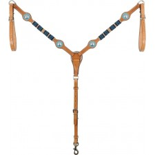 COUNTRY LEGEND RAWHIDE & TURQUOISE BEADSBREASTCOLLAR