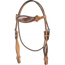 COUNTRY LEGEND GATOR & FEATHERS BROWAND HEADSTALL