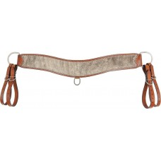 COUNTRY LEGEND TRIPPING COLLAR WITH BRINDLE COWHIDE OVERLAY AND STAINLESS STEEL SPOTS