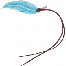 "COUNTRY LEGEND HAND PAINTED FEATHER - LARGE (5""), TURQUOISE"