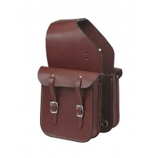 SKIRTING LEATHER SADDLE BAG