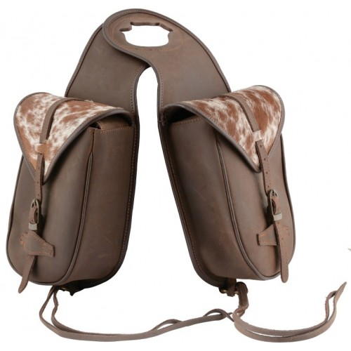 COUNTRY LEGEND SOFT POMMEL BAG, LEATHER WITH COWHIDE