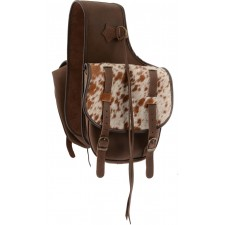 COUNTRY LEGEND SOFT SADDLE BAG, LEATHER WITH COWHIDE