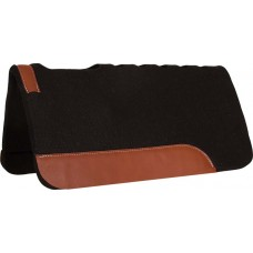 CHOCOLATE FELT CUT BACK PAD MUSTANG WITH VENT HOLES