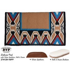 """COUNTRY LEGEND TEEPEE DELUXE PAD WITH 100% WOOL FELT BOTTOM, SHOCK ABSORBING FOAM AND WEAR LEATHERS, 38"""" x 34"""""""