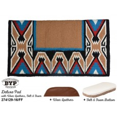 COUNTRY LEGEND TEEPEE DELUXE PAD WITH 100% WOOL FELT BOTTOM, SHOCK ABSORBING FOAM AND WEAR LEATHERS