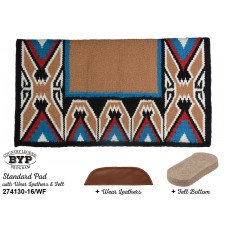 """COUNTRY LEGEND TEEPEE STANDARD PAD WITH 100% WOOL FELT BOTTOM AND WEAR LEATHERS, 38"""" x 34"""""""