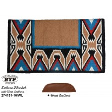"""COUNTRY LEGEND TEEPEE DELUXE SHOW BLANKET WITH WEAR LEATHERS, 38"""" x 34"""""""