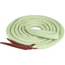 """MUSTANG 5/8"""" x 10.5' BAMTEX TIGHT BRAIDED LEAD WITH LEATHER POPPER"""