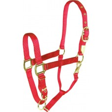 "HAMILTON 1"" DELUXE HALTER WITH ADJUSTABLE CHIN AND SNAP AT THROAT"
