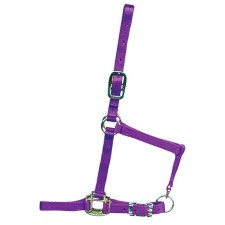 HAMILTON 3/4 INCH DELUXE HALTER WITH ADJUSTABLE CHIN AND NO SNAP AT THROAT