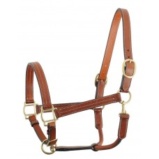 LEATHER HALTER WITH SOLID BRASS FITTINGS