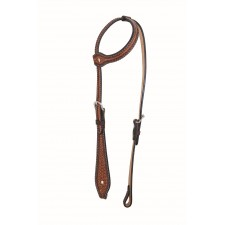 WESTERN RAWHIDE BY JIM TAYLOR PERFORMANCE DIAMOND SERIES TEAR DROP ONE EAR HEADSTALL