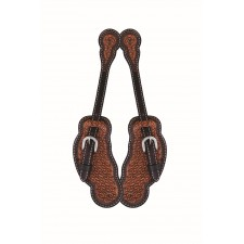 WESTERN RAWHIDE BY JIM TAYLOR PERFORMANCE DIAMOND SERIES MEN'S SCALLOP SPUR STRAP
