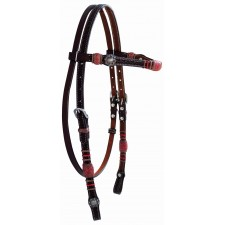 WESTERN RAWHIDE BY JIM TAYLOR PERFORMANCE CHEVRON SERIES BROWBAND HEADSTALL