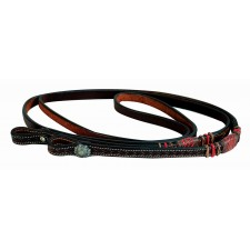 WESTERN RAWHIDE BY JIM TAYLOR PERFORMANCE CHEVRON SERIES 8' ROPING REINS