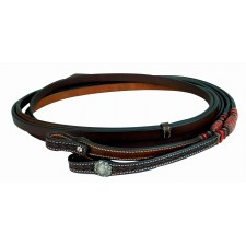 WESTERN RAWHIDE BY JIM TAYLOR PERFORMANCE CHEVRON SERIES 8' SPLIT REINS
